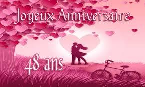 48 ans de mariage carte anniversaire mariage 48 ans virtuelle gratuite à imprimer