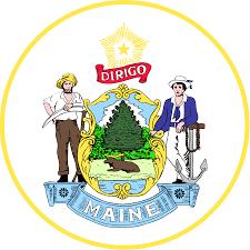Maine Flag Image Seal Of Maine Wikipedia