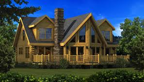 danville rear elevation southland log homes houseplans