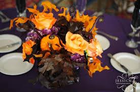 Halloween Wedding Decor by Picture Of Beautiful Halloween Wedding Centerpieces