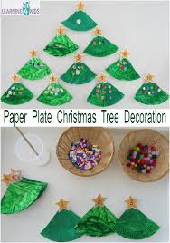 D Christmas Tree Cake - paper plate christmas tree counting decoration learning 4 kids