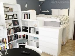 Malm Bookshelf The Platform Bed Made Out Of Ikea Furniture Two Malm Dressers 5