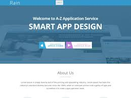 rain html5 app landing page bootstrap template