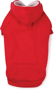 zack u0026 zoey fleece lined dog hoodie large red chewy com