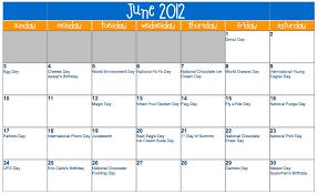 june 2012 calendar the home