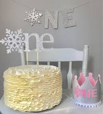 snowflake cake topper ultimate cake smash package winter onederland decorations