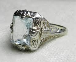 aquamarine ring art deco aquamarine engagement ring art deco ring