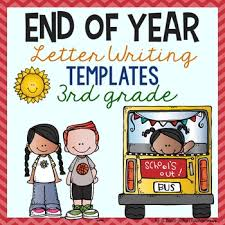 end of year letter writing templates 3rd grade by a grace filled