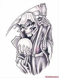 grim reaper with hourglass tattoo design tattoo viewer com