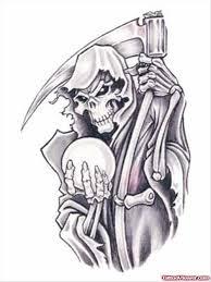 grim reaper with hourglass tattoo design tattoo viewer com