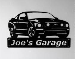 ford mustang metal wall car etsy