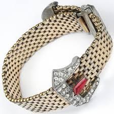 buckle bracelet gold images Kreisler gold mesh pave and ruby belt buckle bracelet jpg