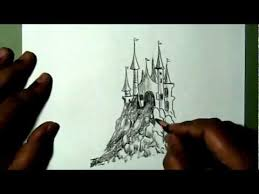 how to draw a simple castle yzarts yzarts youtube