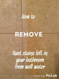 How To Remove Stains From Bathtub Best 25 Remove Rust Stains Ideas On Pinterest Removing Rust