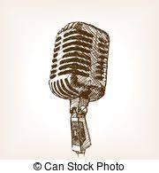 eps vectors of vector hand drawn studio condenser microphone