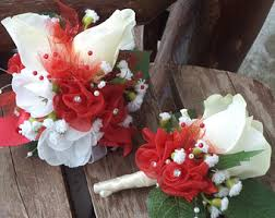 Prom Corsages And Boutonnieres Real Touch Corsage Etsy