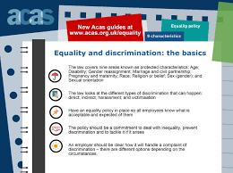 acas advice equality acas