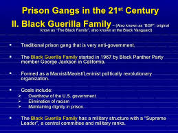 prison gangs in the 21st century power point