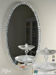Beaded glass framed mirror Crafty Nest