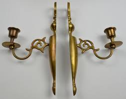 Antique Wall Sconces Vintage Brass Pair Of Wall Sconces 9 5