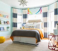 Horizontal Stripe Curtains Magnificent Horizontal Striped Curtains Image Ideas For Living