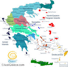 Greek Map Justgreece Com The Greek Travel Guide