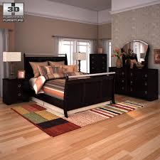 3d asset ashley pinella sleigh bedroom set cgtrader