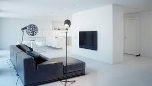 A Super Minimalist Modern Apartment In White - Minimalist apartment design