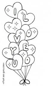 free printable valentine heart balloons coloring pages kids