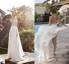 Discount Backless Summer Beach Wedding Dresses 2016 Halter