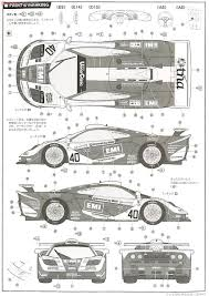 mclaren f1 drawing mclaren f1 gtr long tail le mans 1998 40 model car images list