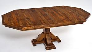 Wooden Octagon Dining Table Round Wood Dinette Custom - Octagon kitchen table