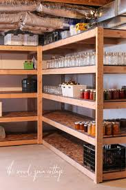 Woodworking Shelf Designs by Diy Basement Shelving The Wood Grain Cottage
