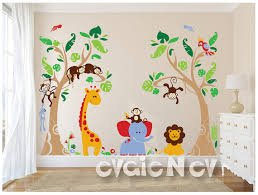 Safari Nursery Wall Decals Jungle Safari Wall Decals Baby Wall Decals Nursery Wall