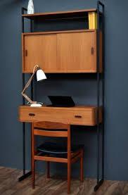 Book Case Desk Vintage Large 3 Bay Teak Ladderax Shelving Bookcase Display Unit