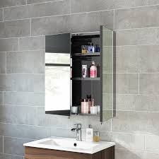 670 x 600 stainless steel bathroom mirror cabinet modern double