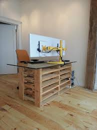 pallet desk with drawers and shelves diy pallet reception desk diy