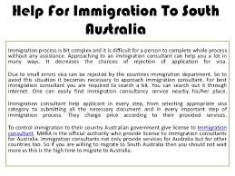 help for immigration to south australia