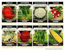 seed packets vintage vegetable seed packets printable digital collage sheet