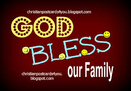 free card god bless our family christian cards for you