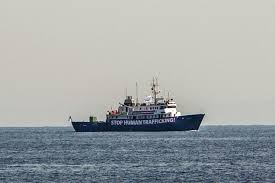anti migrant boat follows ngo vessel off libya the local