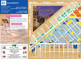 Map Of Beverly Hills Los Angeles by Beverly Hills Walking Map Trends Media Group