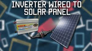 why is it to solar panels inverter wired directly to solar panel
