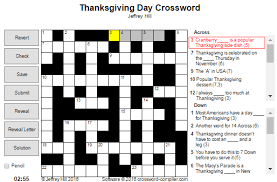 thanksgiving day crossword the