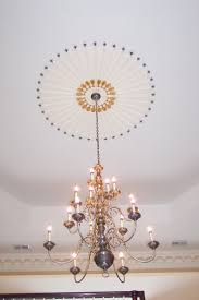 Light Fixture Ceiling Medallion by 43 Best Colorful Ceilings Images On Pinterest Plaster Ceiling