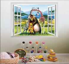 Cheap Wall Decals For Nursery Madagascar Animal World Nursery Wall