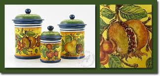 colorful kitchen canisters tuscan canisters the best tuscan kitchen canisters from italy