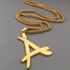 kid ink alumni chain 2017 newest superstar alumni necklace a letter pendants jewelry