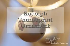 rudolph thumbprint ornament tutorial