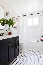 1930s bathroom design black and white bathroom with subway tile shower tile